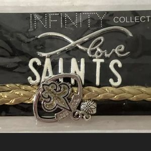 New Orleans Saints Infinity Bracelet With Charms